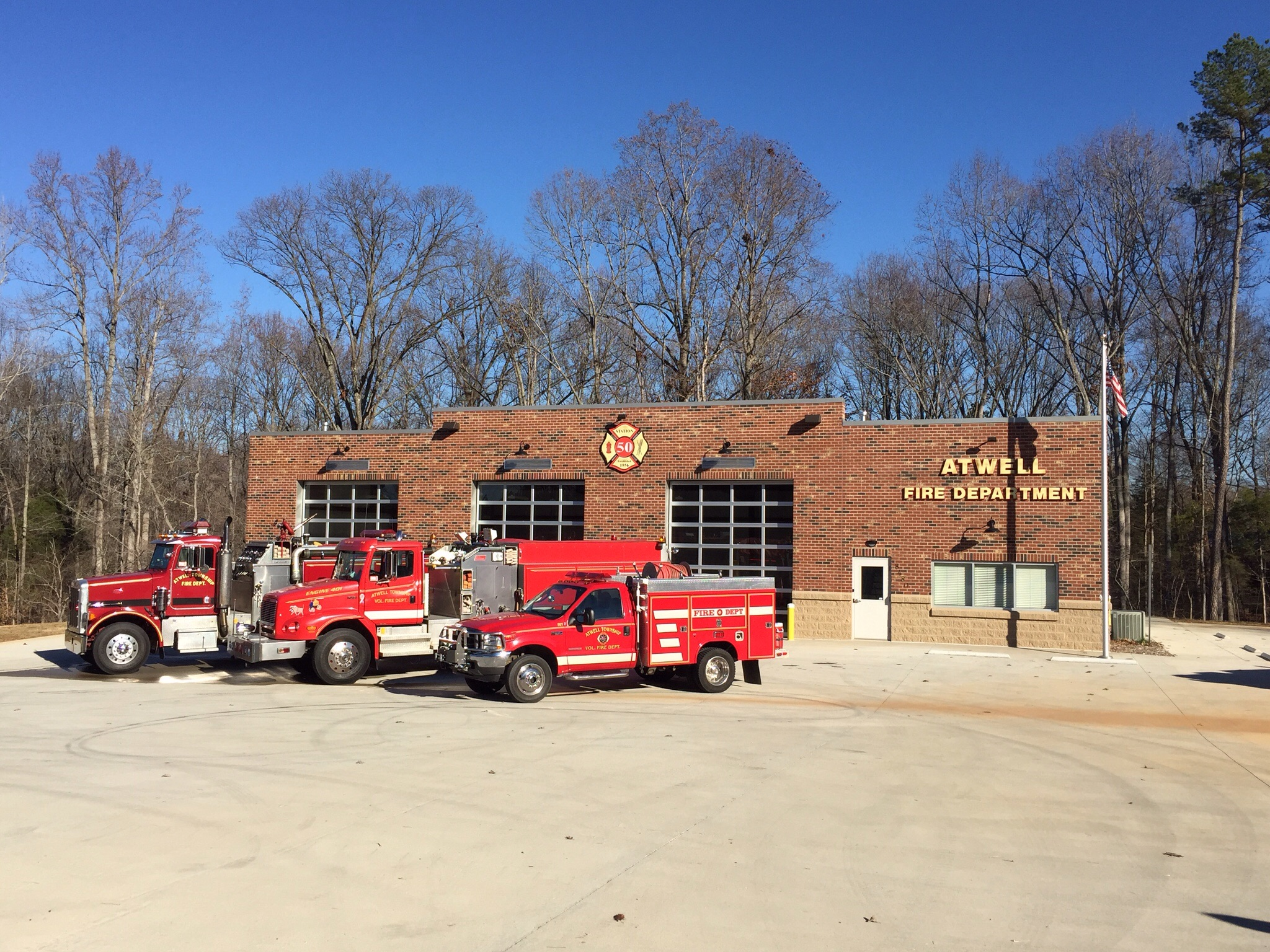 Station 50 with trucks